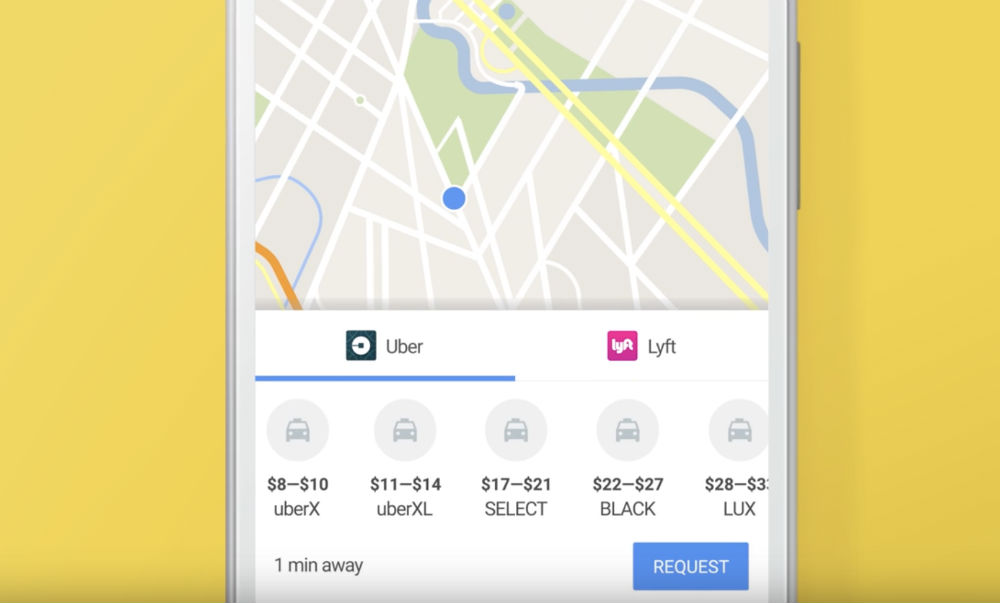 google haritalar uber