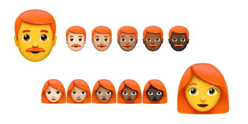 kizil sacli emojiler