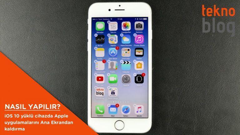 Nasıl Yapılır: iOS 10 yüklü cihazda Apple uygulamalarını Ana Ekrandan kaldırma