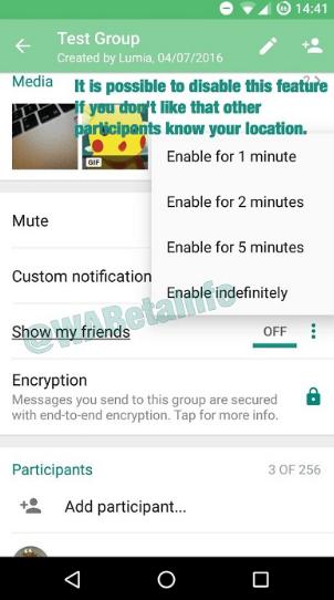 whatsapp grup konum takibi