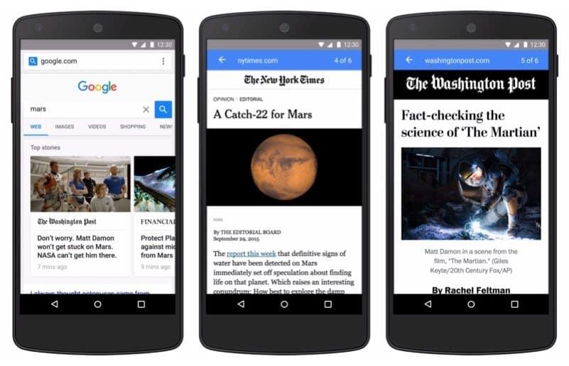 google hizlandirilmis mobil sayfalar