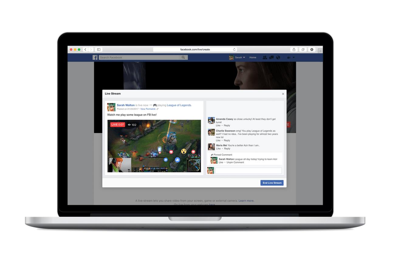 facebook live ekran paylasimi