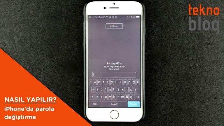 Nasıl Yapılır: iPhone'da parola değiştirme