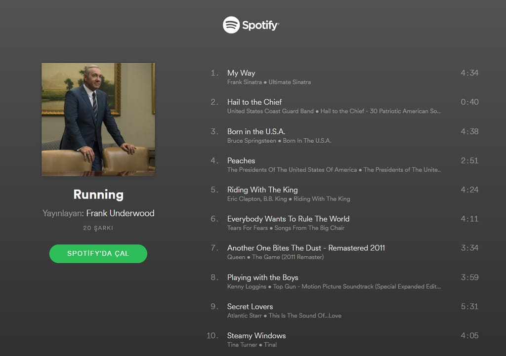 spotify house of cards