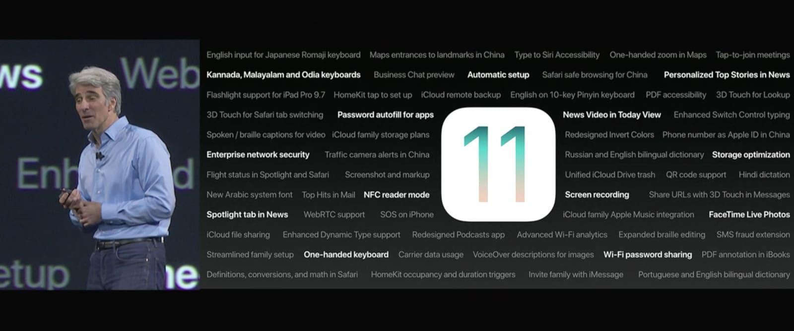 ios 11 yenilikler