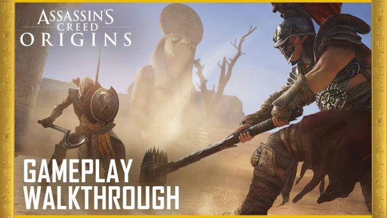 Antik Mısır'da geçen Assassin's Creed Origins'in oynanış videosunu izleyin – Video