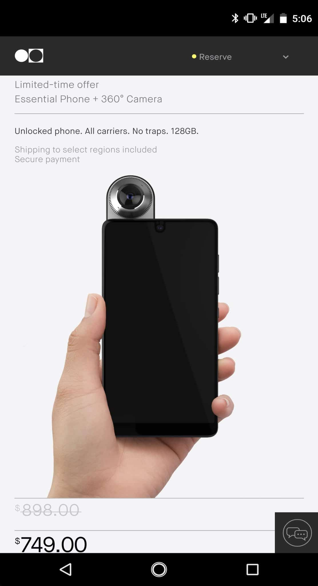 essential phone ekran görüntüsü