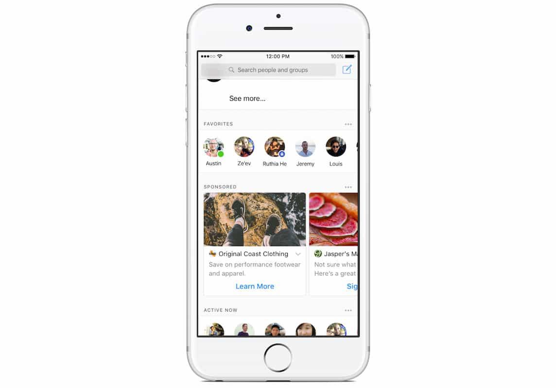 facebook messenger reklamlari