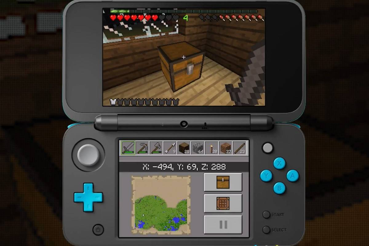 minecraft nintendo 3ds