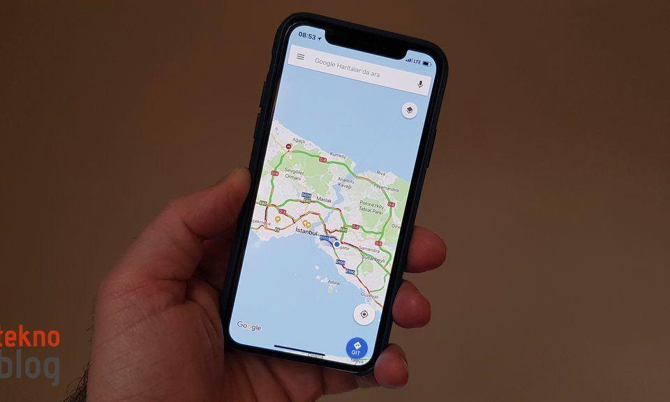 Google Haritalar anlık hız bilgisini göstermeye başlıyor