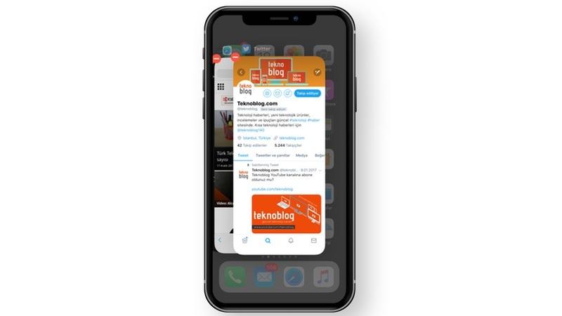 iphone x uygulamaları kapatma