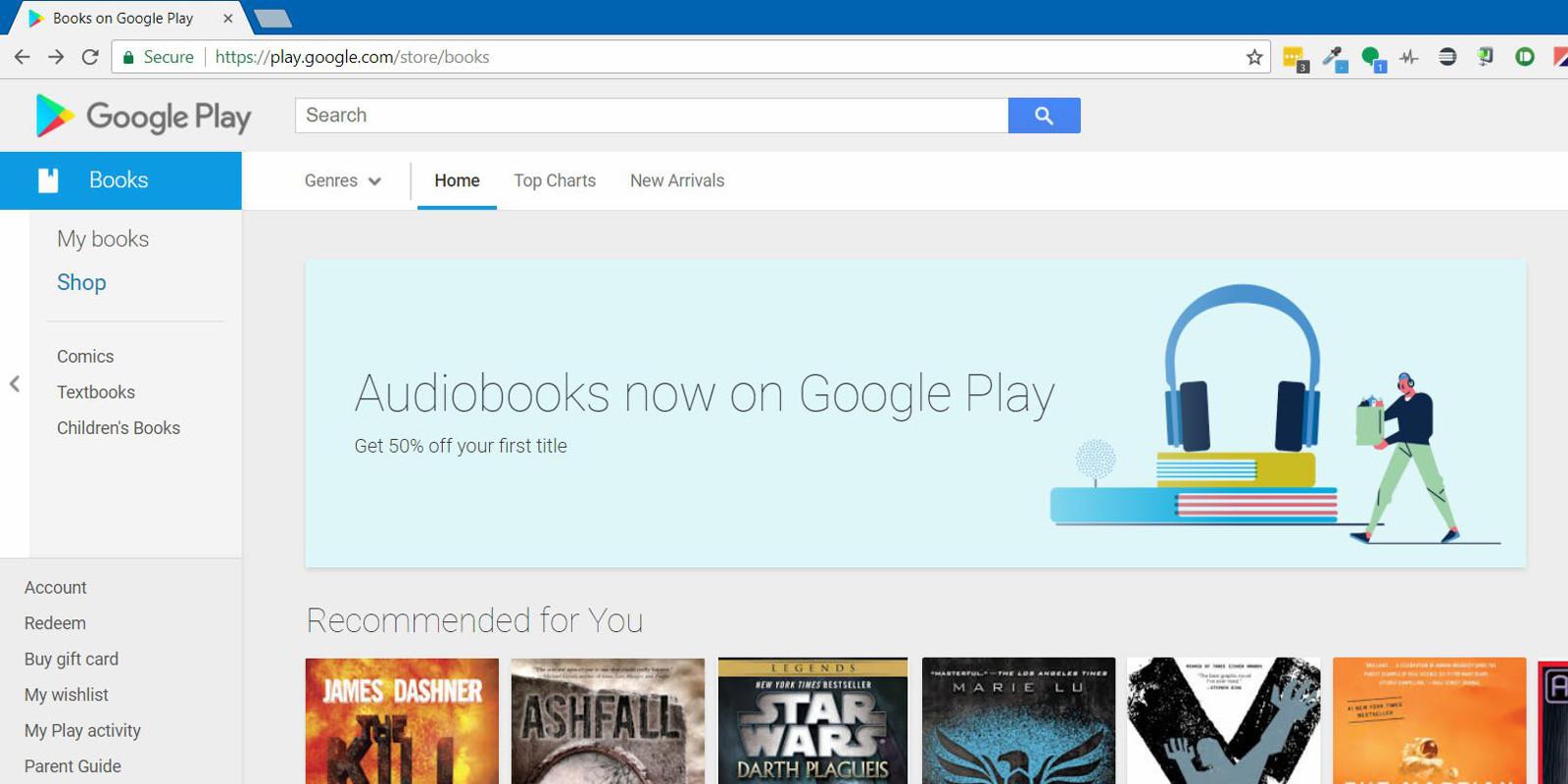 google play sesli kitaplar