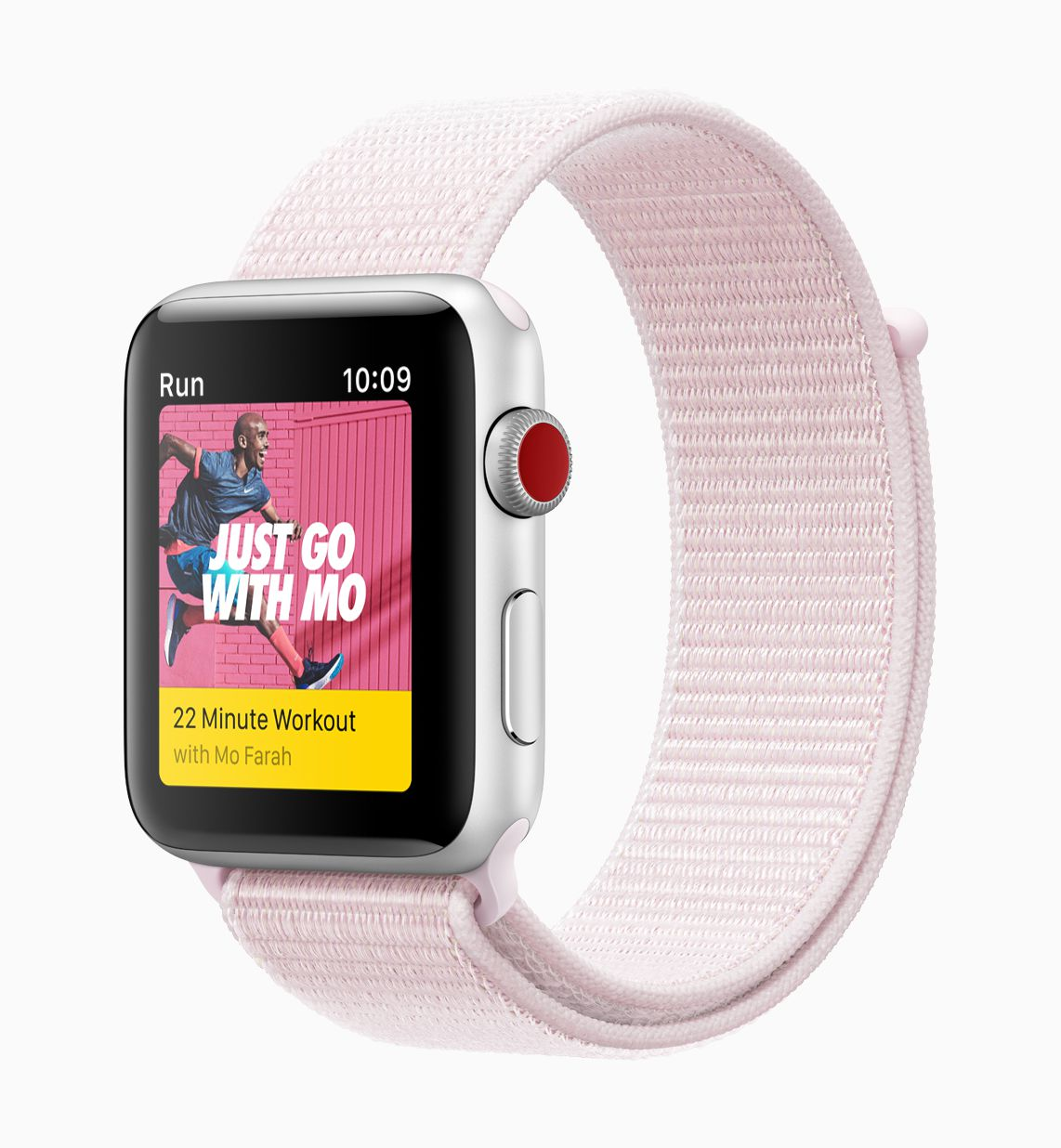 apple watch nike spor kordon pembe