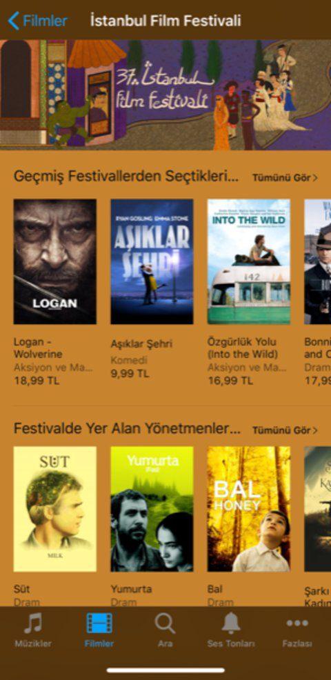 itunes filmler istanbul film festivali