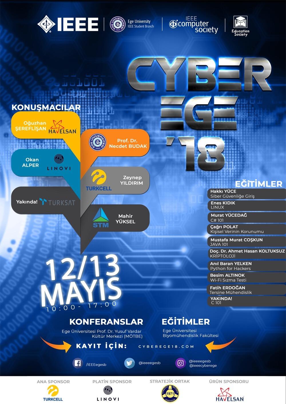 cyberege 2018 programı