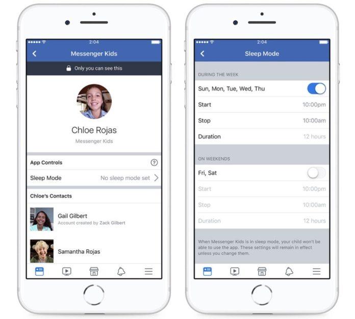 Facebook Messenger Kids uygulamasına uyku modu geliyor