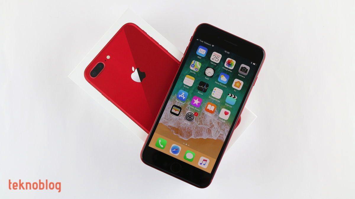 kırmızı apple iphone 8 plus kutu açılımı