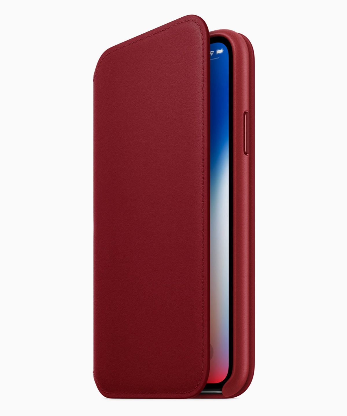 iphone x product red deri folyo kılıf