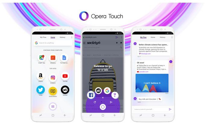 opera touch android
