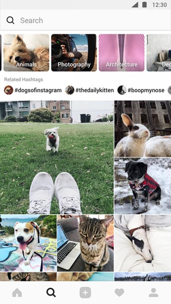 instagram keşfet sayfası