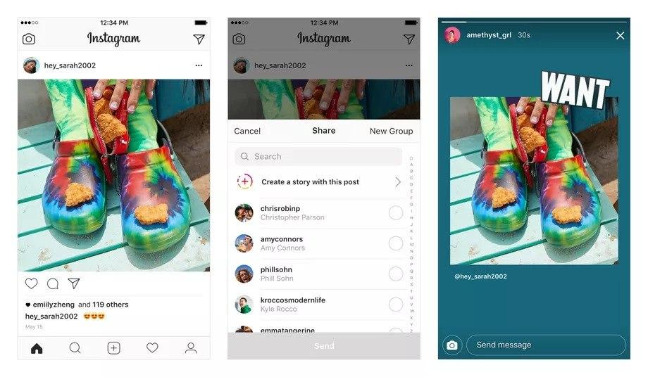 instagram hikaye paylaşım