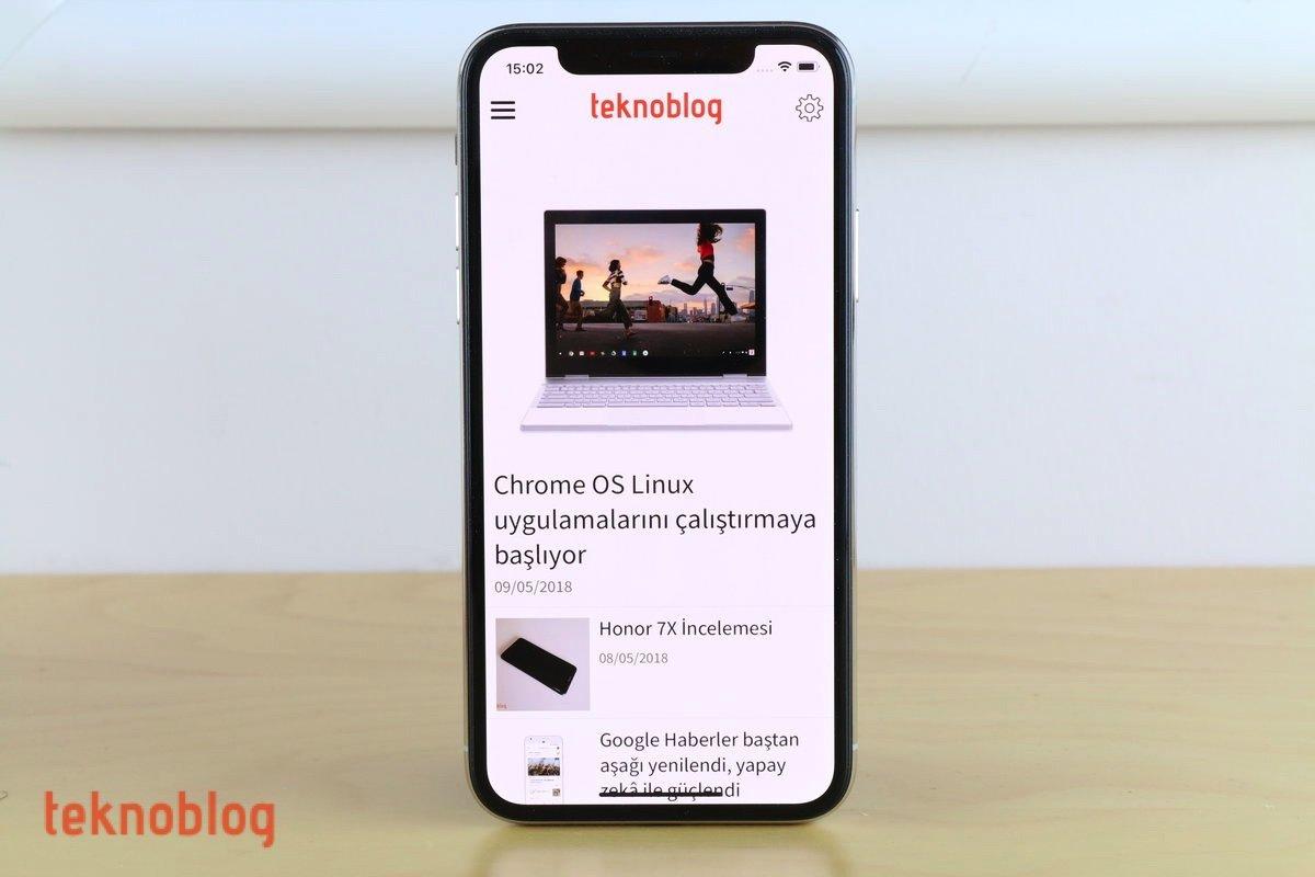 teknoblog iphone x uygulaması