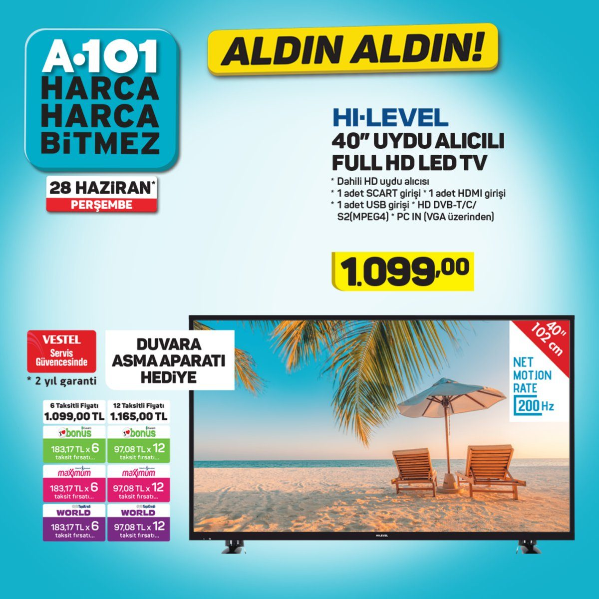 a101 hi-level tv