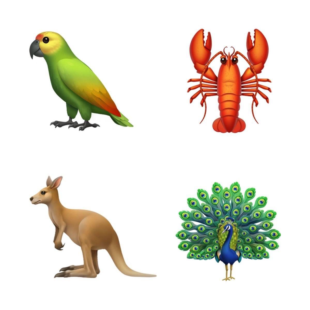 apple ios 12 emoji hayvanlar