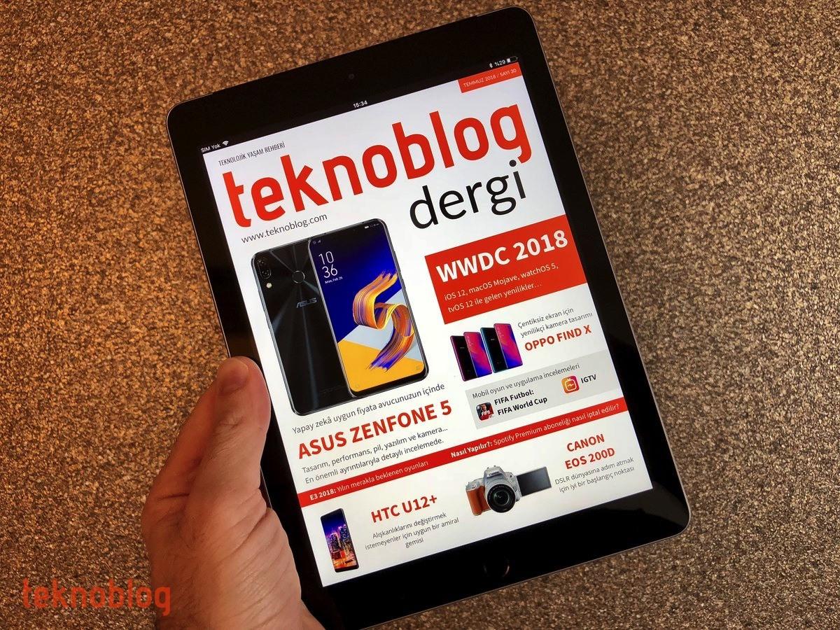 teknoblog dergi temmuz 2018