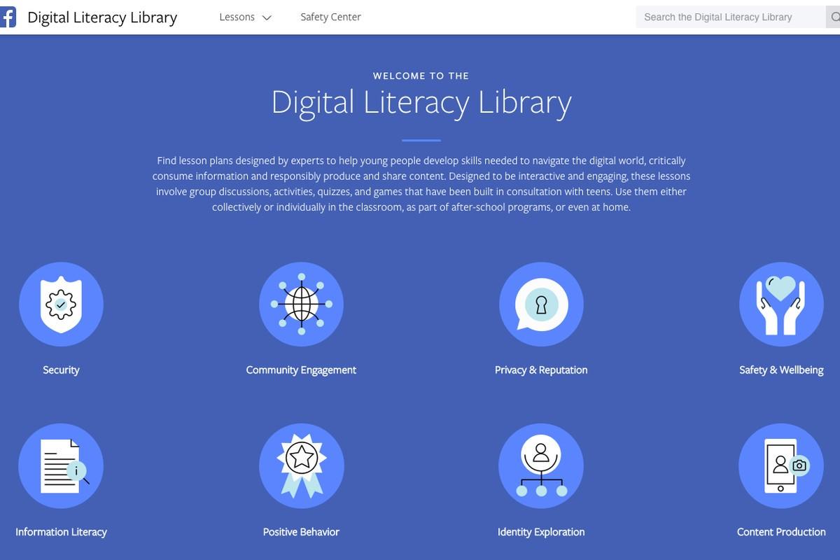 facebook dijital okuryazarlık kütüphanesi