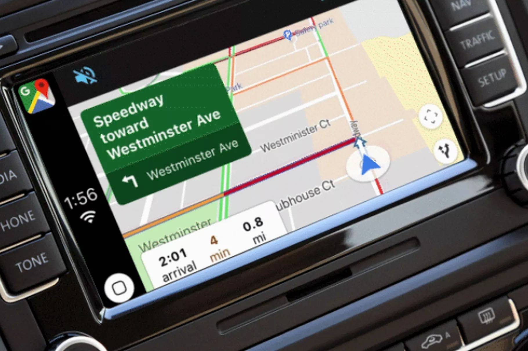 google haritalar carplay
