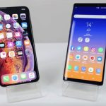 iphone xs galaxy note 9