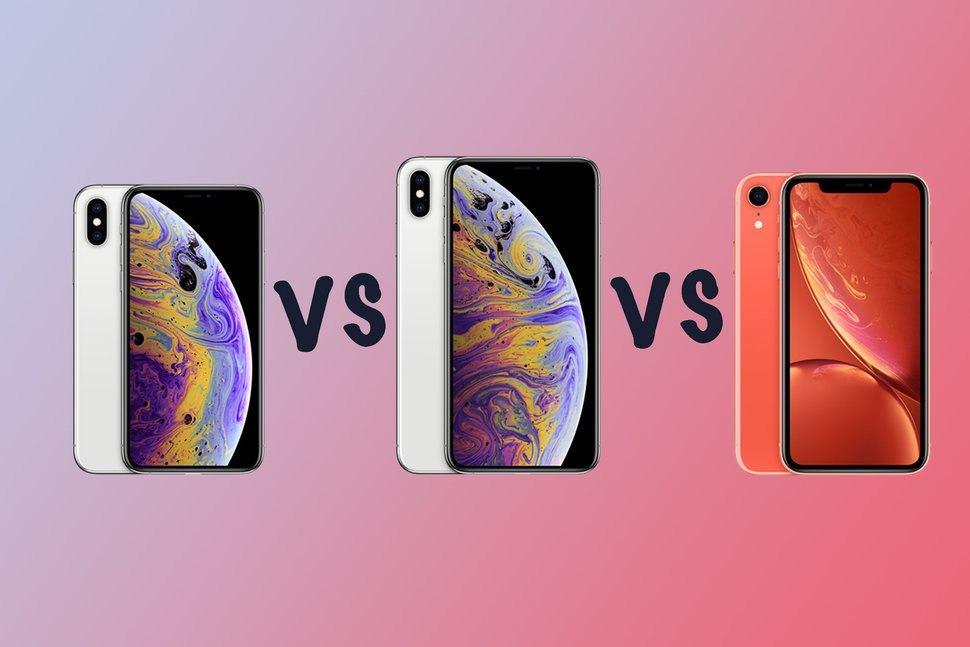 iPhone Xs, iPhone Xs Max ve iPhone XR karşı karşıya