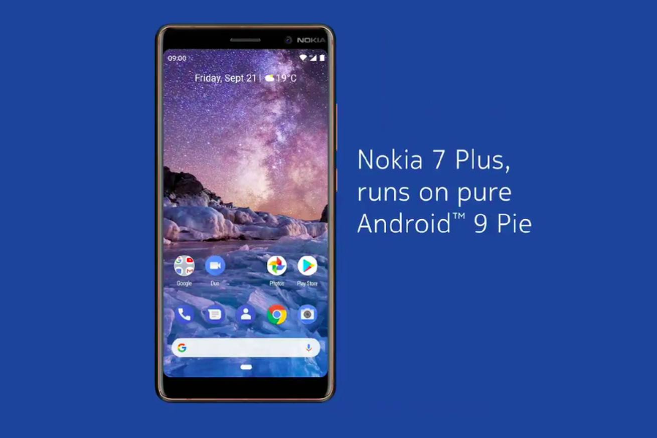 nokia 7 plus android 9 pie