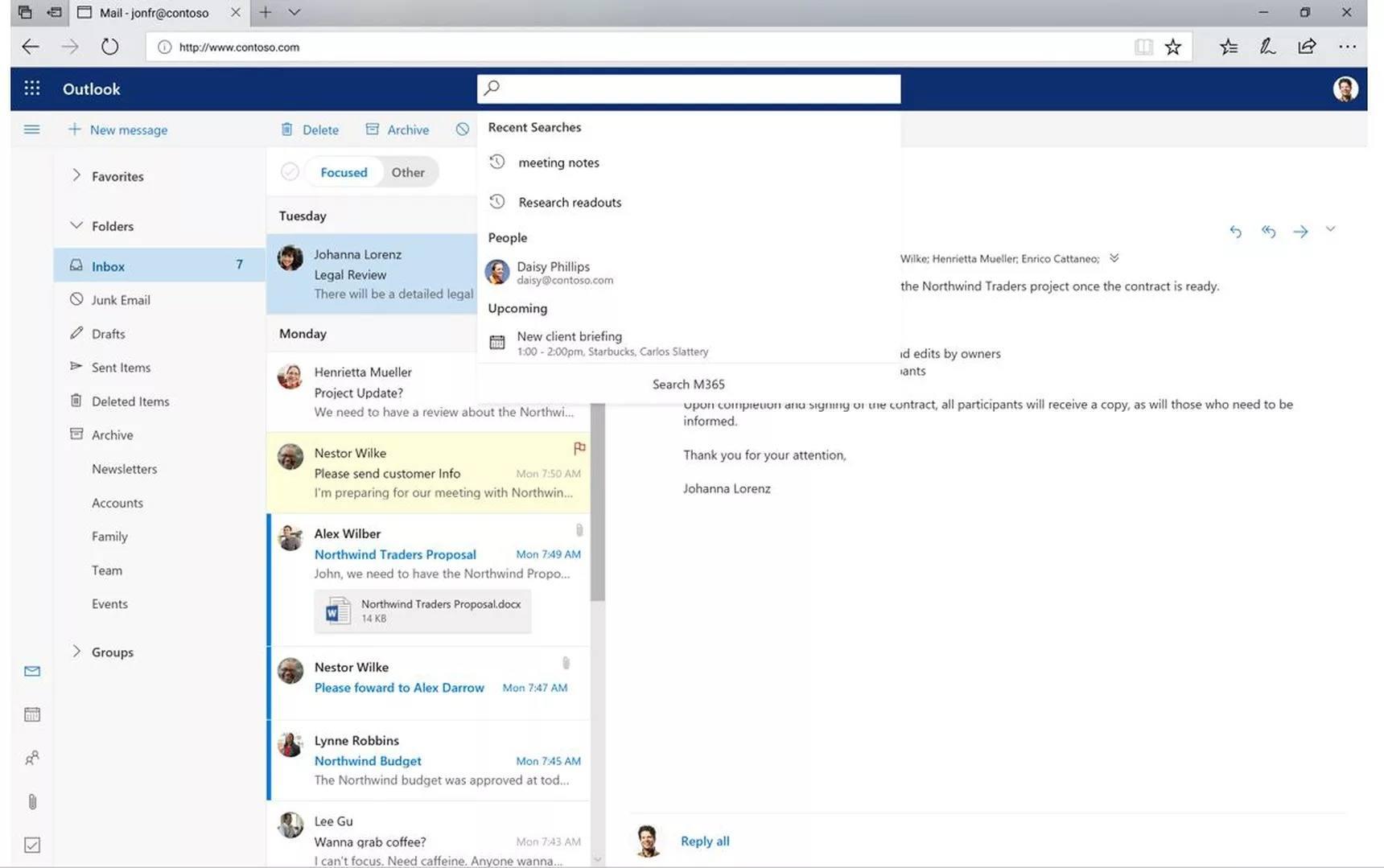 outlook web yeni tasarım