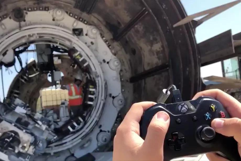 The Boring Company'nin yeni makinesi Xbox kumandasıyla kontrol ediliyor