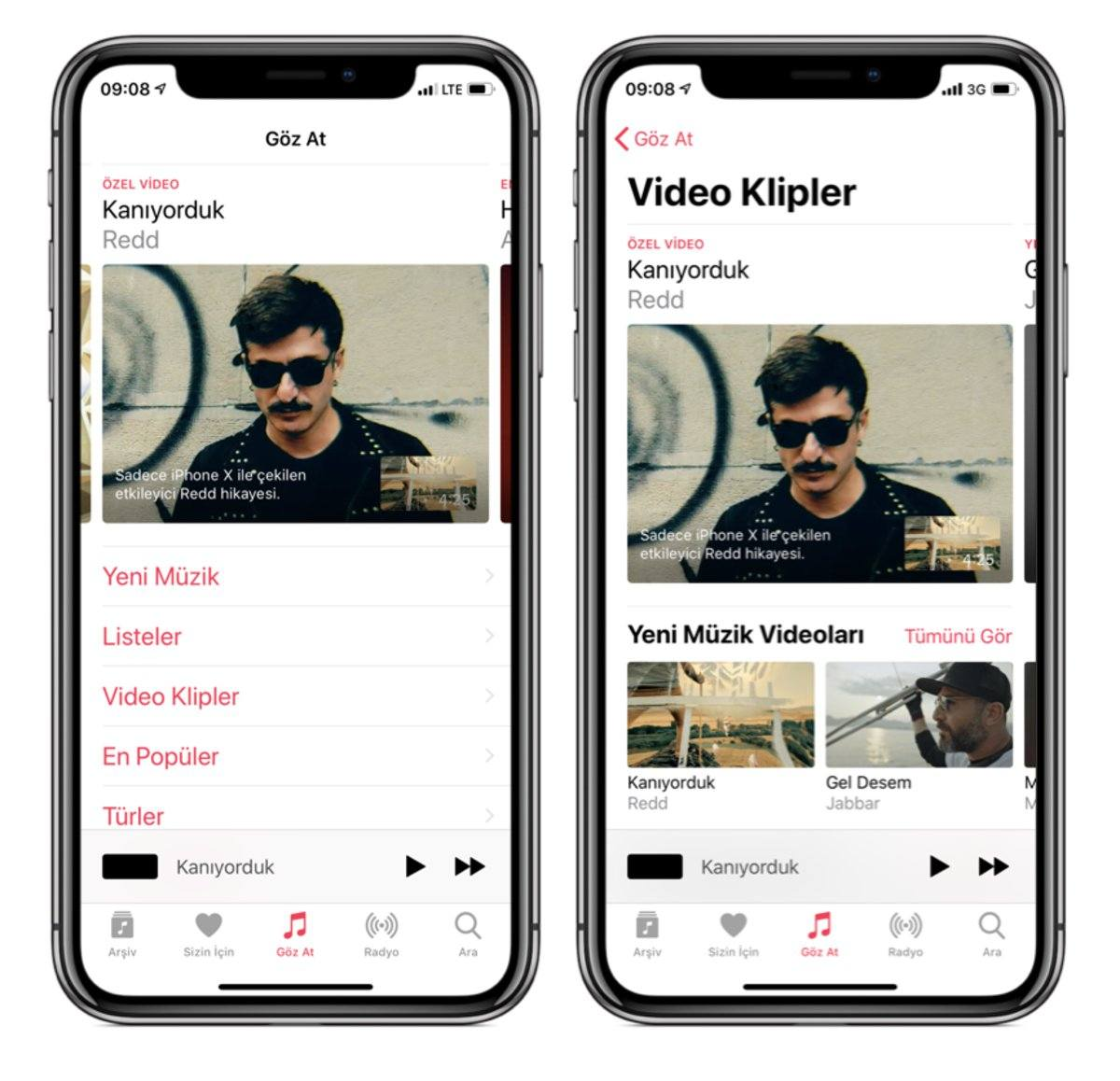 apple music redd kanıyorduk video klip