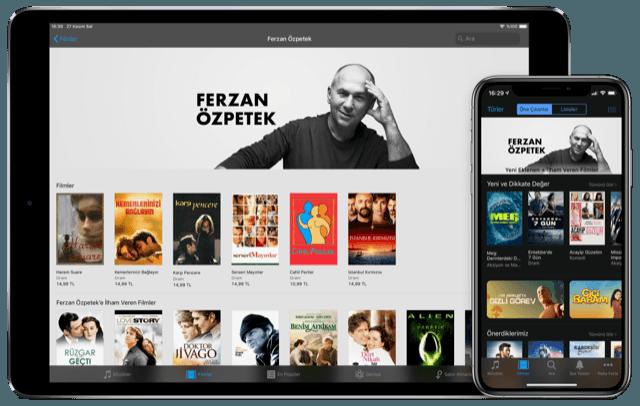 Ferzan Özpetek filmleri için iTunes'da özel oda