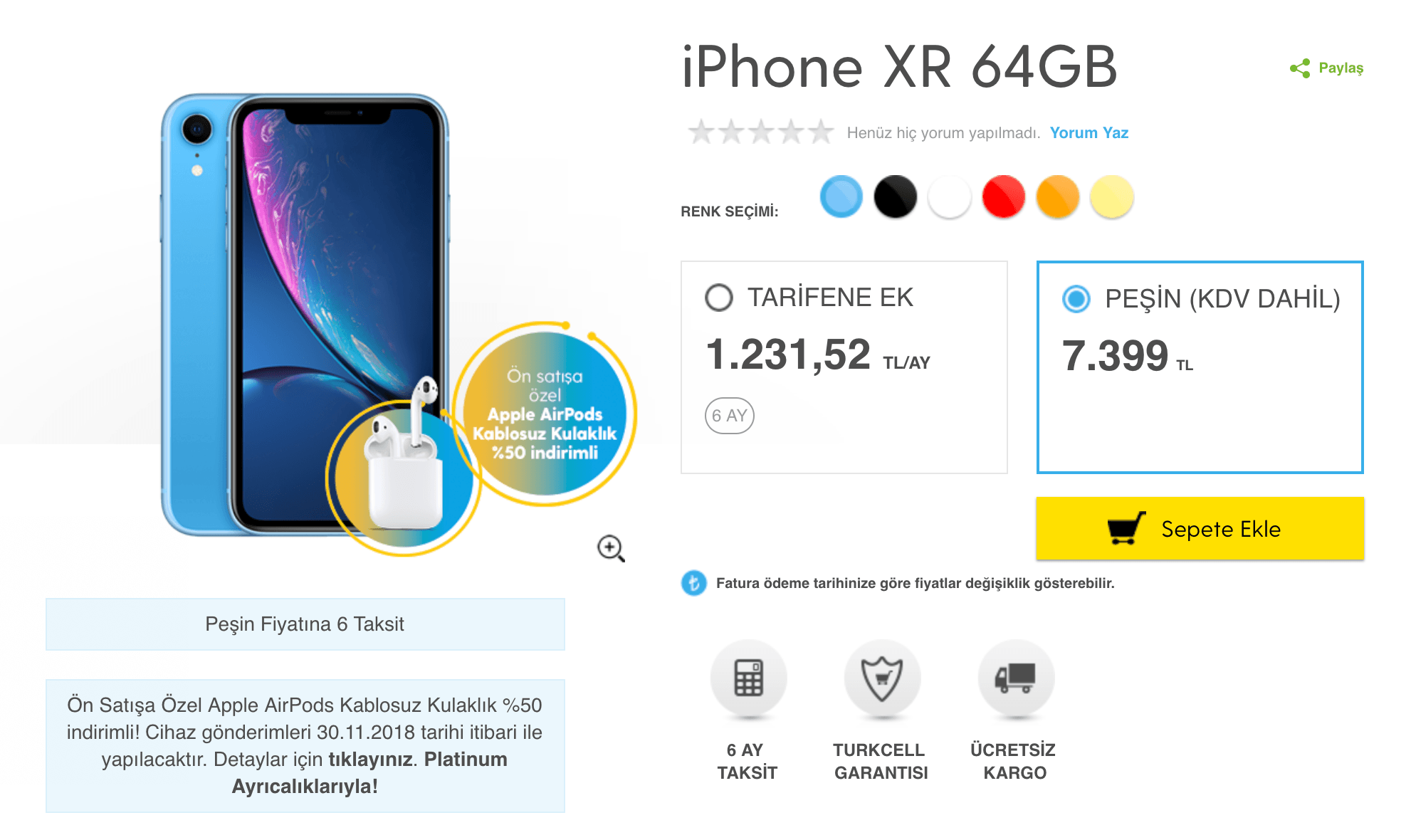 iphone xr 64 gb turkcell