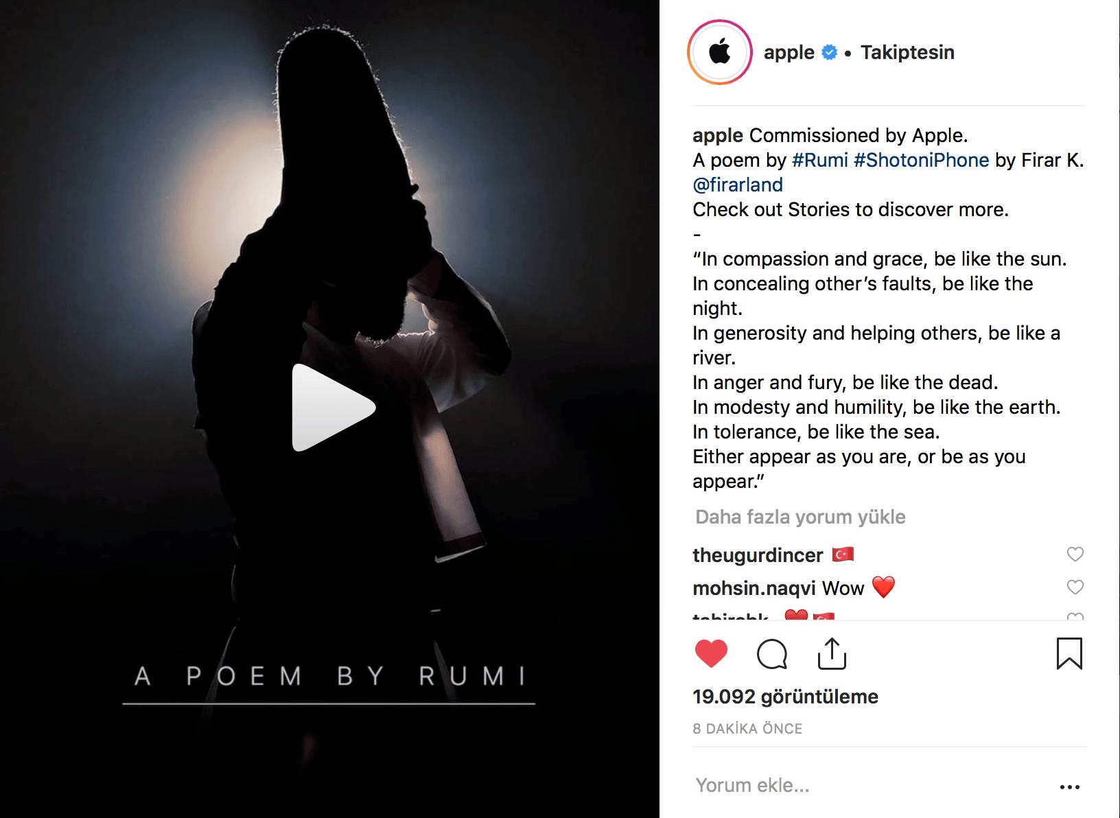 apple instagram mevlana