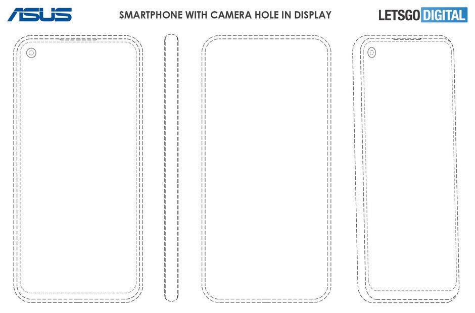 Asus da kamera deliği taşıyan ekrana sahip telefonlar çıkarabilir