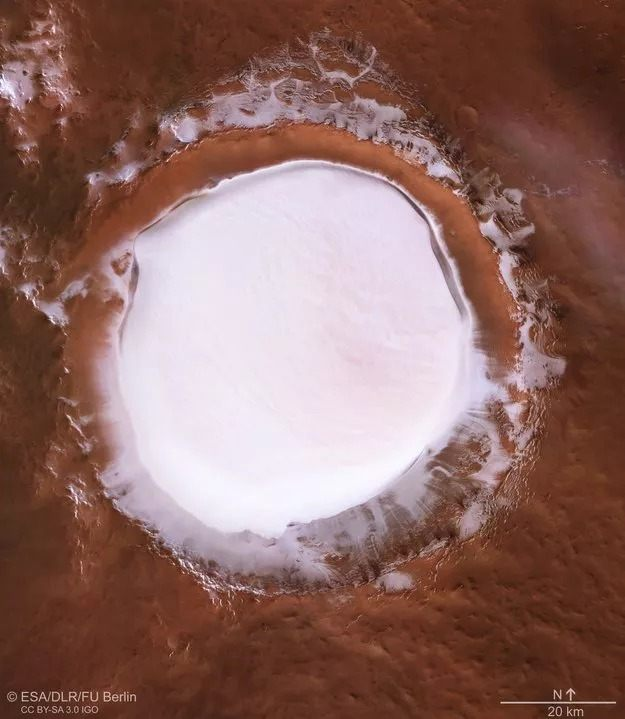 mars korolev krateri