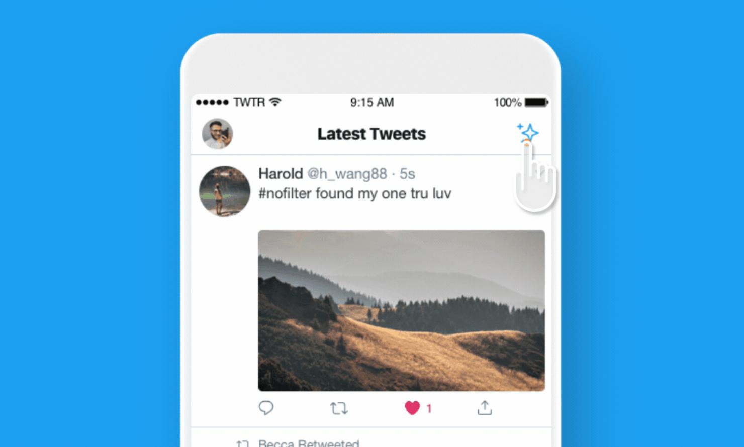 twitter ışıltı kronolojik zaman akışı