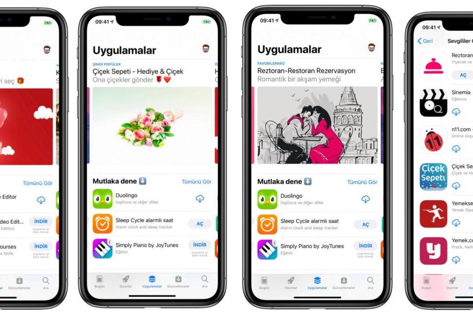 app store 14 şubat sevgililer günü