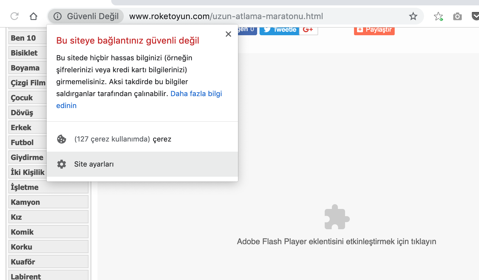 chrome flash izin verme