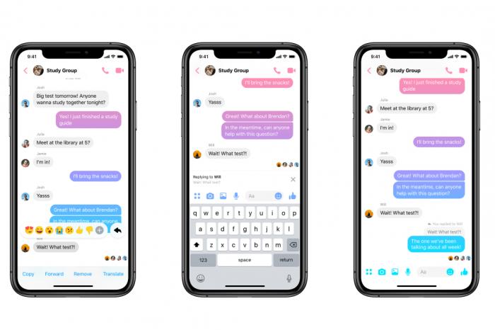 Facebook Messenger'da alıntılı yanıt dönemi başlıyor