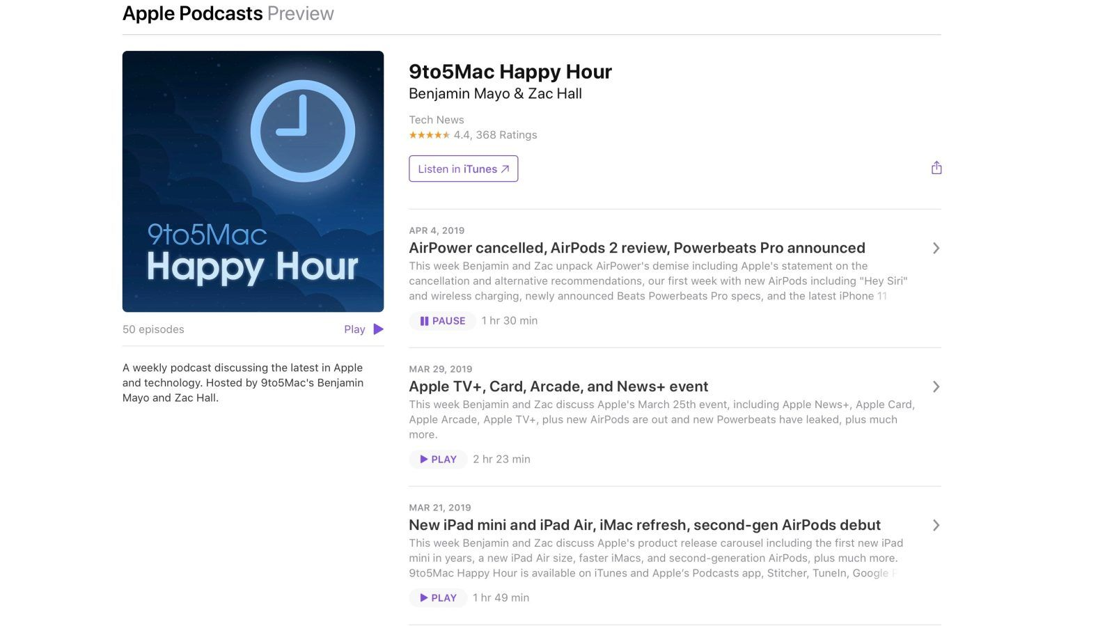 apple podcast'ler web