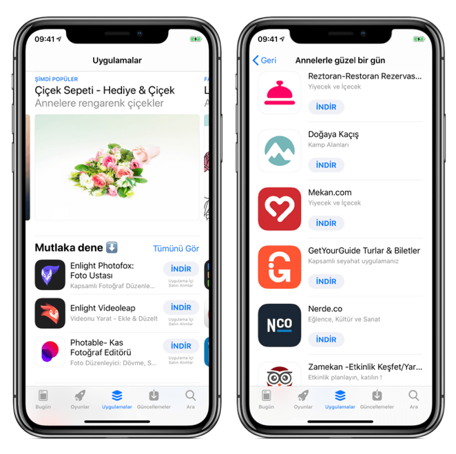 app store anneler günü