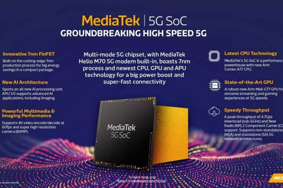 MediaTek 5G'yi daha geniş kitlelerle buluşturacak