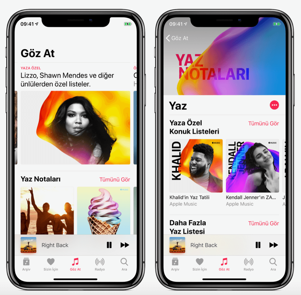 apple music yaza özel
